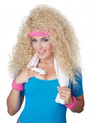 Perruque femme blonde années 80 avec bandeau