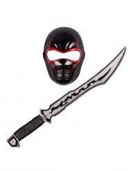 Kit Ninja enfant rouge et noir