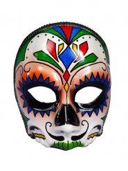 Demi-masque crâne Dia de los muertos adulte