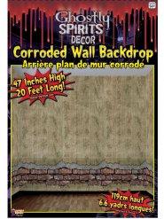 Décoration murale effet mur délabré