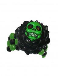 Bracelet squelette gothique noir et vert adulte