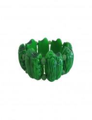 Bracelet cerveau vert zombie adulte