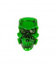 Broche crâne vert Halloween
