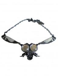 Collier gothique chaîne mouche argentée