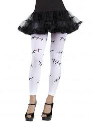 Legging mariée-zombie imprimé cicatrices