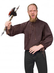 Chemise médiévale marron homme