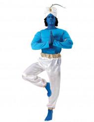 Déguisement Génie oriental bleu et blanc adulte