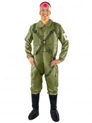 Déguisement homme aviateur kamikaze japonais