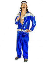 80ies Male Shell Suit Costume blue