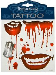 Tatouages vampire Halloween