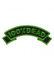 Patch gothique 100% Dead vert et noir