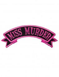Patch gothique Miss Murder rose et noir