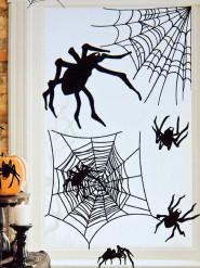 Lot de 24 autocollants araignées Halloween