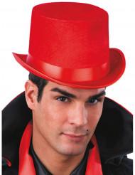 Chapeau haut de forme rouge