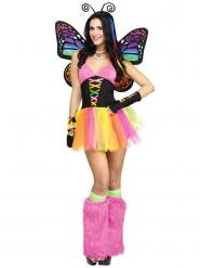 Déguisement papillon charmant femme