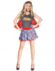 Déguisement super-héroïne bande-dessinée femme