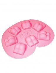 Moule à glaçons fesses nues rose