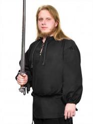 Blouse médiévale noire pour hommes