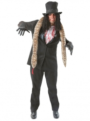 Déguisement zombie rockeur halloween