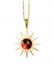 Collier vampire pierre rouge Halloween