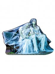 Décoration couple mariés gothique Halloween