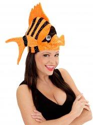 Chapeau poisson tropical orange adulte