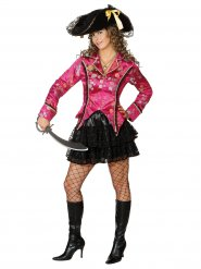 Noble Pirate Lady Jacket with Flower Pattern pink-multicoloured