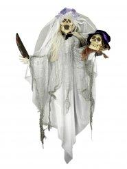 Décoration mariée squelette 80 x 60 cm