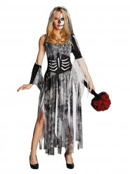 Déguisement mariée squelette Halloween femme