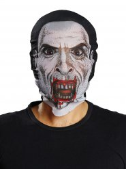 Masque de vampire noir et blanc