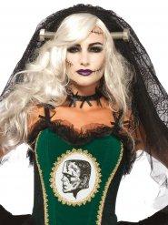 Voile mariée avec clous gothique femme Halloween