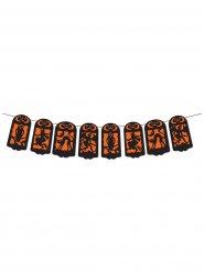 Bannière décoration Halloween ombres orange-noir 360 x 19 cm