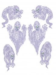 6 décorations autocollantes fantômes 78 x 100 cm
