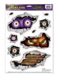 9 Stickers yeux maléfiques Halloween