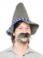 Grosse moustache grise et blanche