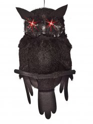 Hibou de décoration avec yeux lumineux