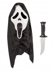 Masque et couteau Scream™ Halloween adulte