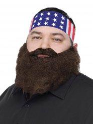 Bandana USA avec barbe pour homme