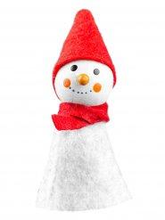 Décoration bonhomme de neige 8x3cm