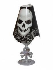 8 Décorations pour verres crâne Halloween 27 cm