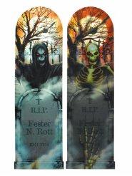 Panneau Lenticulaire nuit effrayante Halloween 94 X 29 cm