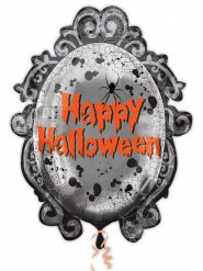 Ballon miroir gothique Halloween 63 x 78 cm