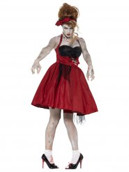 Déguisement effrayant zombie années 50 femme