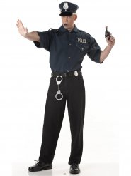 Chemise Police noire Homme