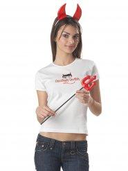Tee-shirt diablesse avec accessoires femme