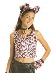 T-shirt léopard fille réversible