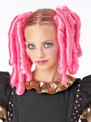 Accessoires cheveux boucles roses