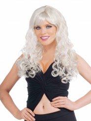 Curled Longhair Wig Fringe blonde