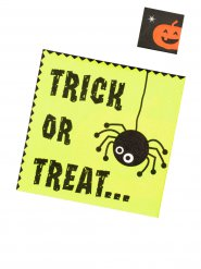20 serviettes trick or treat 33 x 33 cm