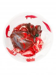Décoration coeur arraché 17,5x7,5cm